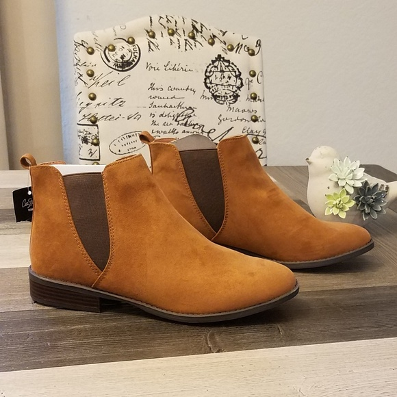 c7e8649b01e5d Women s Slip On Ankle Booties Brown Size 10